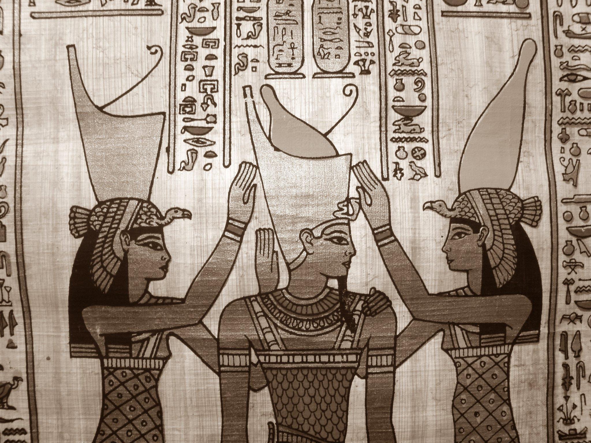 Vista de un papiro egipcio