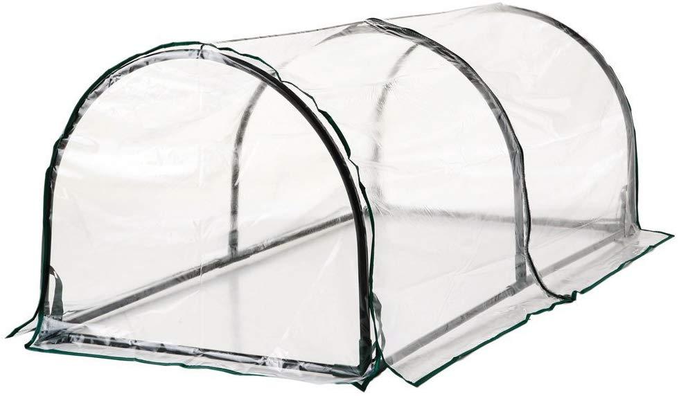 El invernadero tunel es ideal para huerto