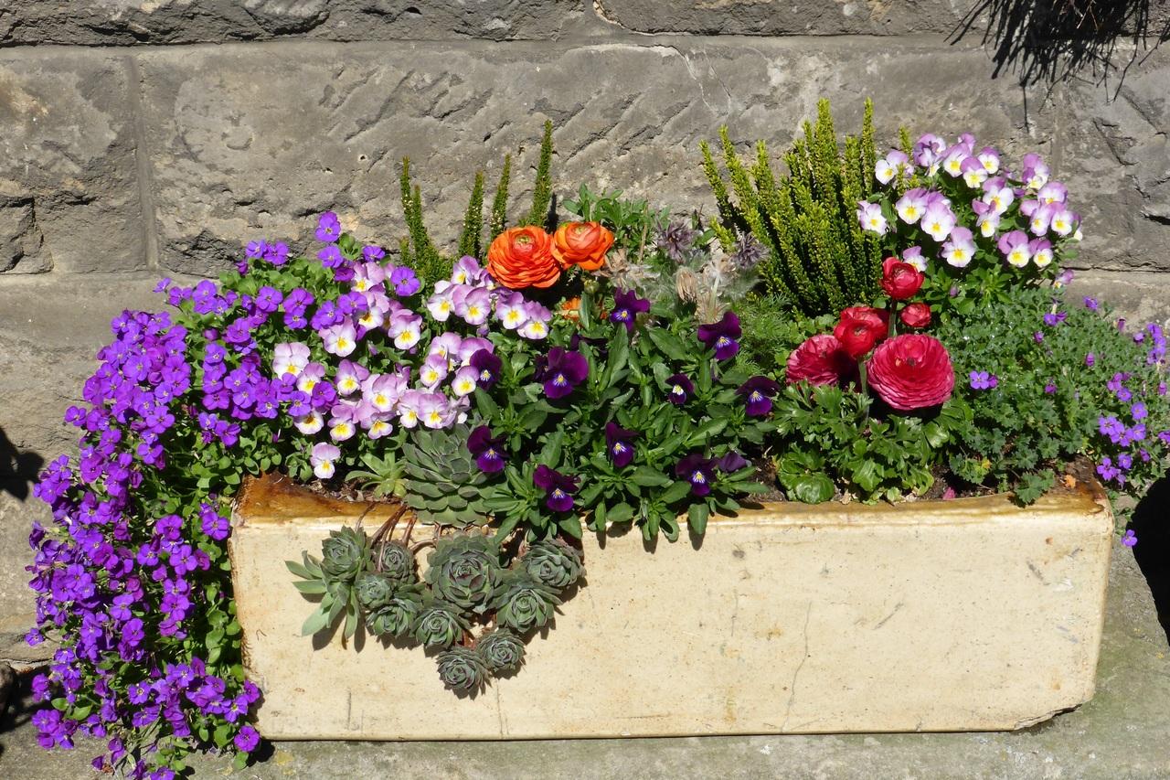Las jardineras de piedra son bonitas y duraderas