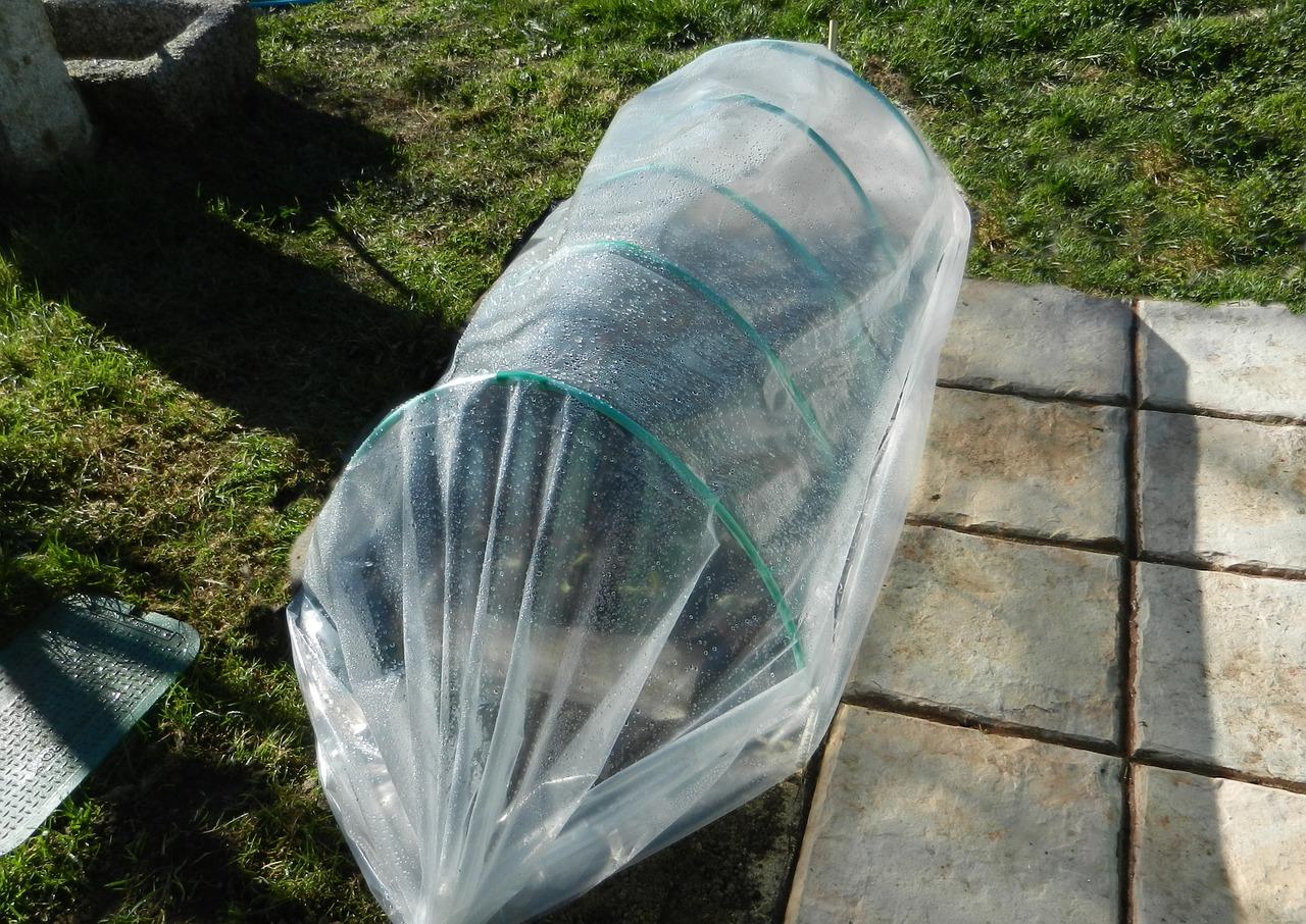 Los invernaderos de túnel son útiles para proteger el huerto en invierno