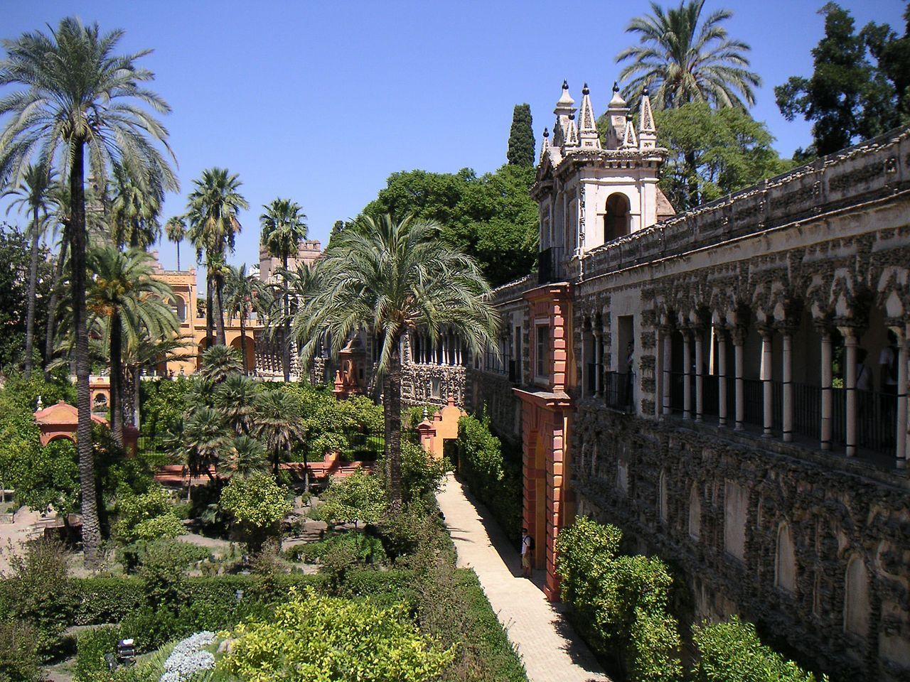 El jardín español es una mezcla de estilos