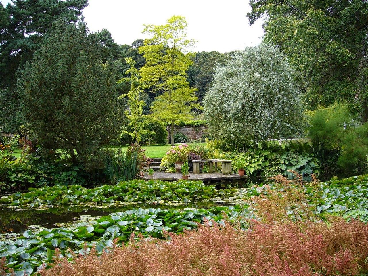 El jardín inglés es un estilo informal de jardín