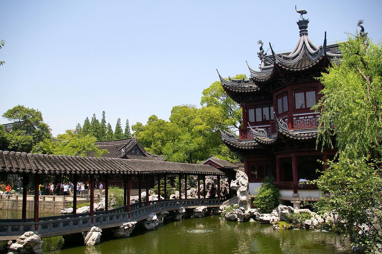 El Jardín Yuyuan es un bonito jardín chino