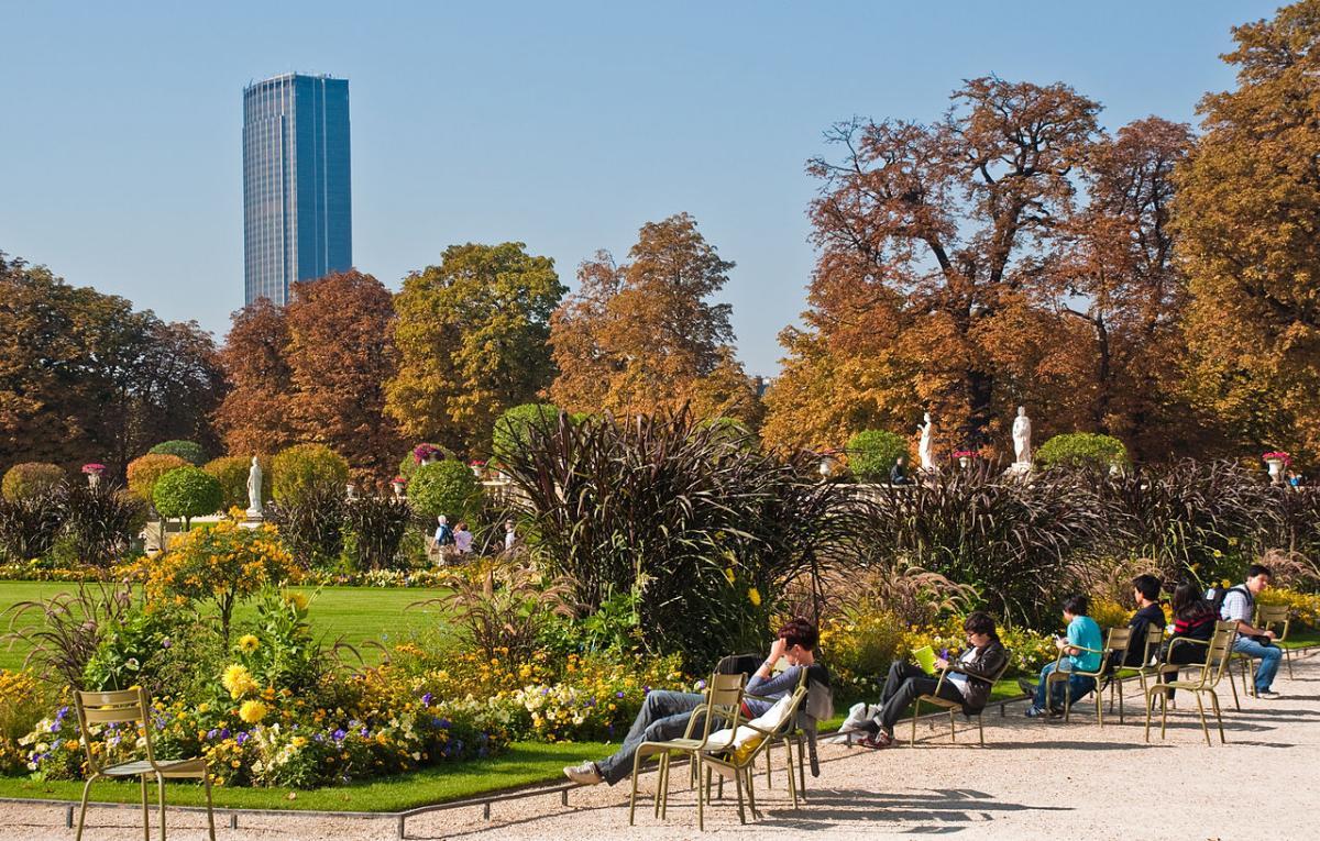 Los árboles de los Jardines de Luxemburgo están bien cuidados