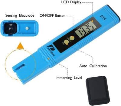 Un medidor de pH es ideal para conocer mejor el agua de riego
