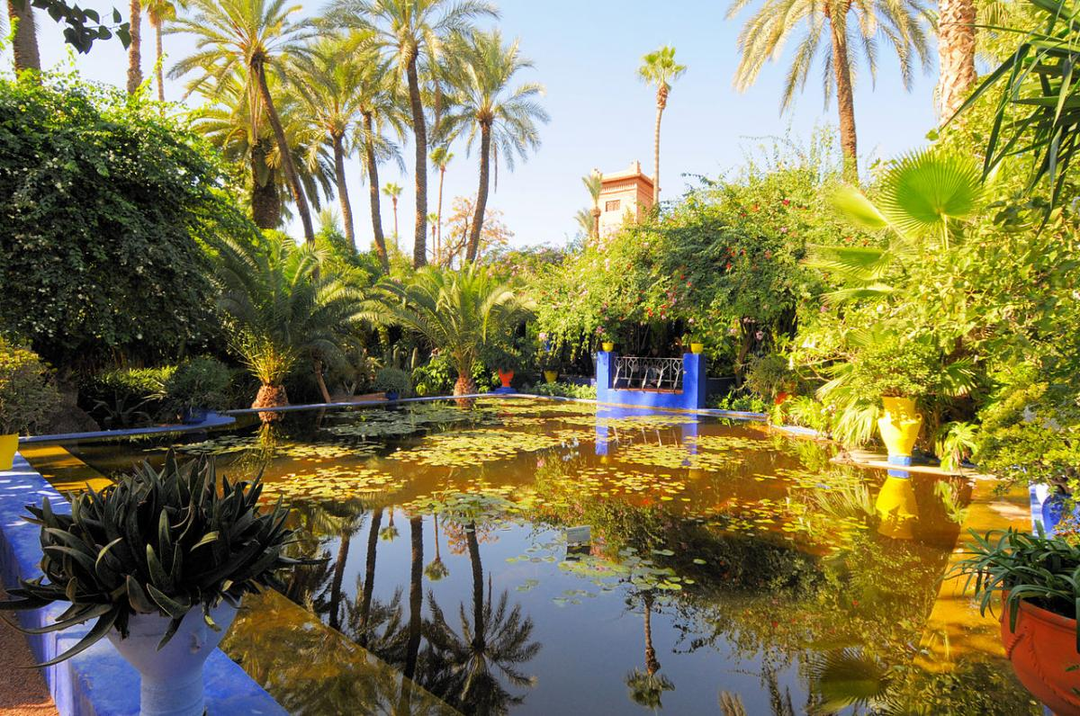 El Jardín Majorelle está en Marruecos, y es uno de los más bonitos