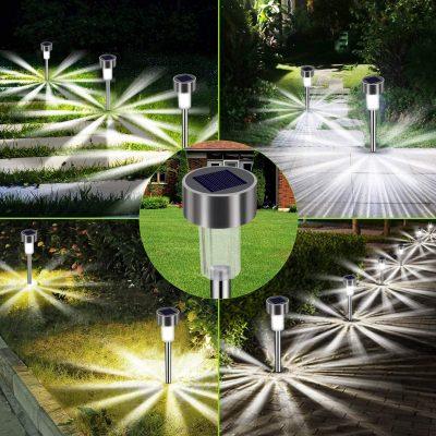 En un jardín no puede faltar iluminación