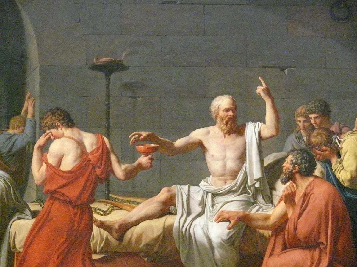Sócrates fue un filósofo que murió por envenenamiento de cicuta