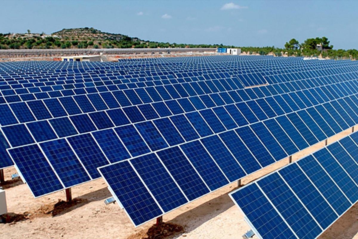 huerto solar a gran escala