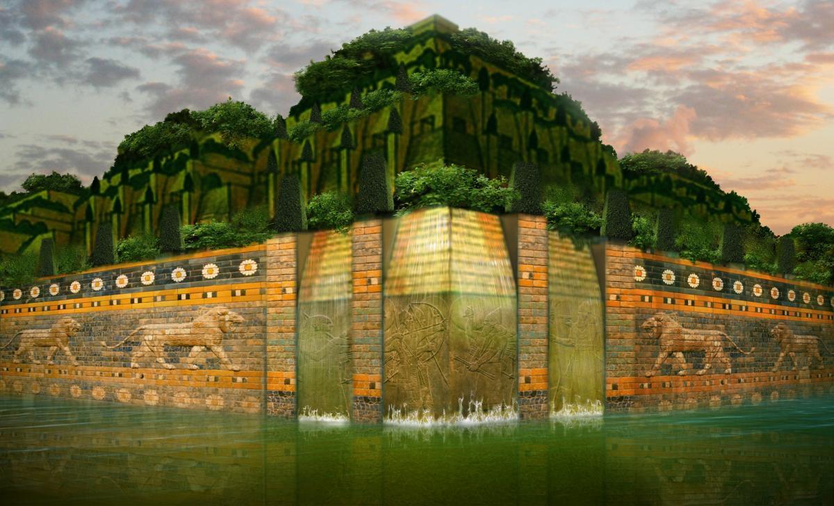 El Jardín colgante de Babilonia es una de las maravillas perdidas del mundo