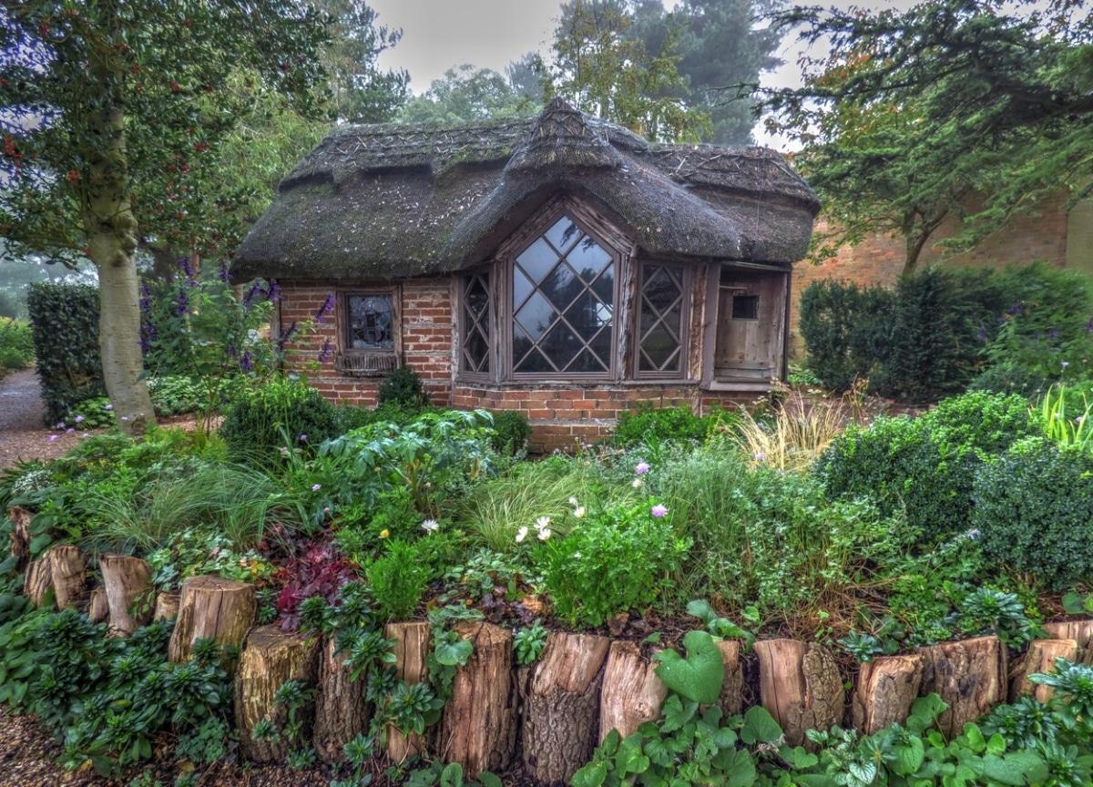 Un jardín romántico puede ser rústico