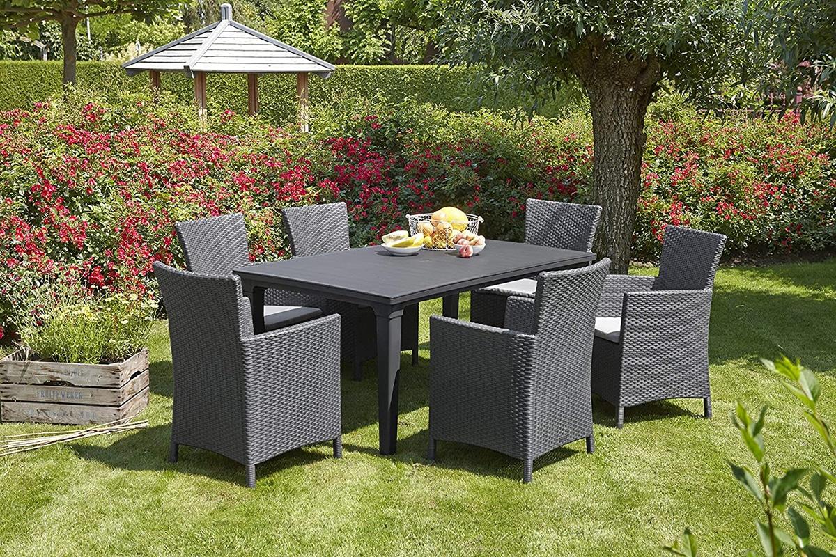 Las sillas para jardín tienen que estar hechas de un material que resista a la intemperie