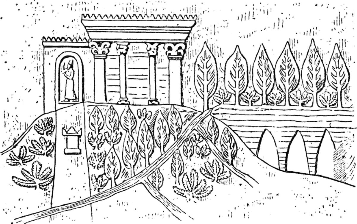 Los jardines se regaban con agua del río Eufrates