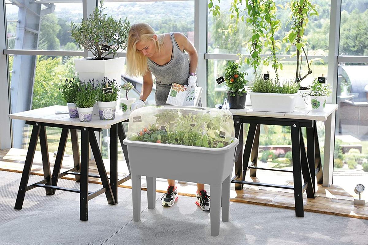 Se puede colocar un huerto urbano tanto en interiores como en exteriores