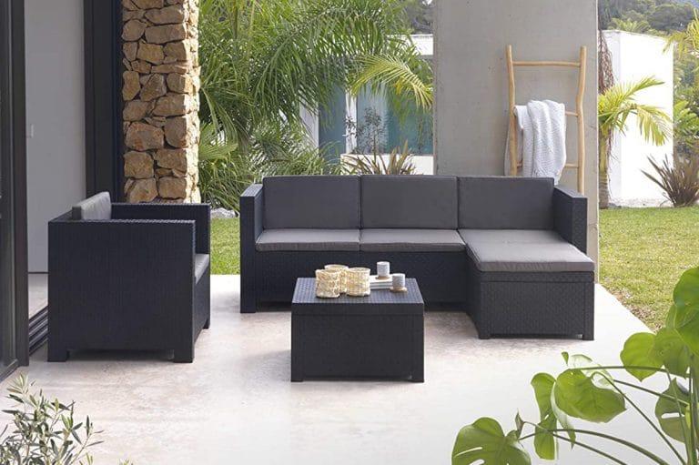 Los conjuntos de jardín incluyen varios muebles de exterior
