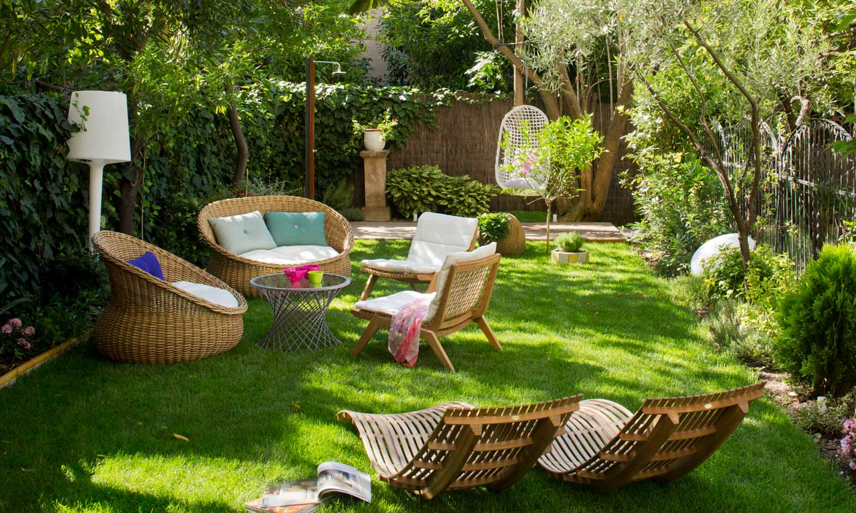 mesa jardin relajacion