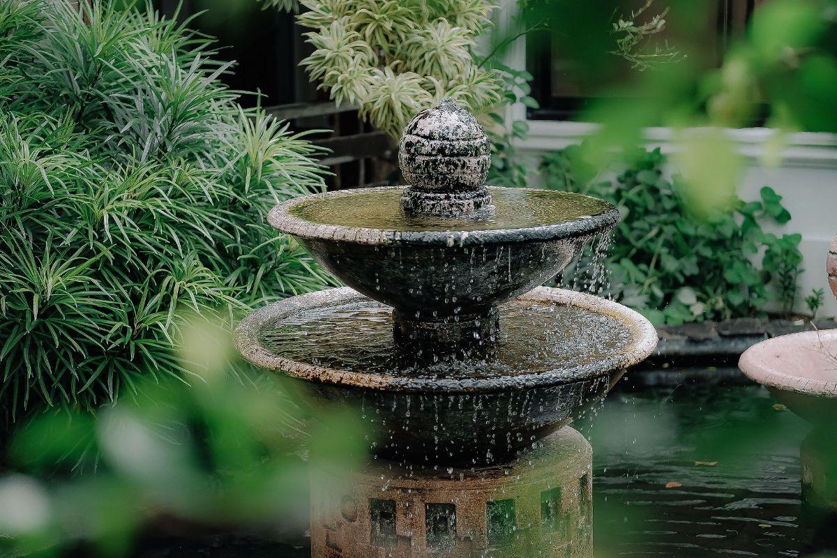 Un jardín con protagonismo en el agua
