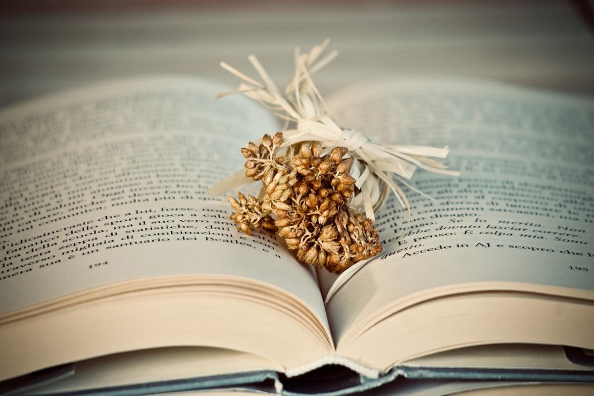 La técnica más popular para secar flores naturales mediante el prensado con un libro