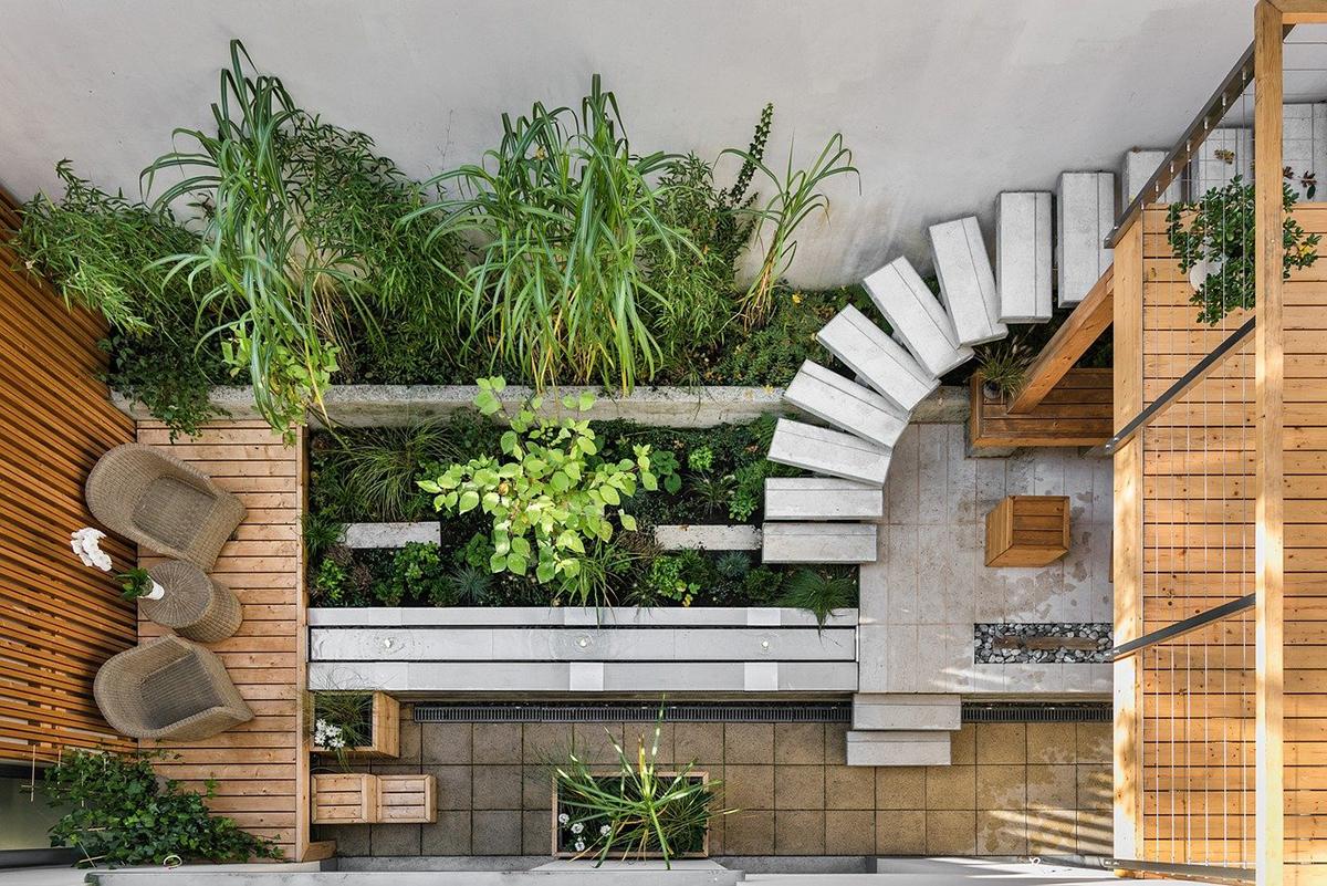 La elección de las plantas es muy importante para decorar un patio pequeño