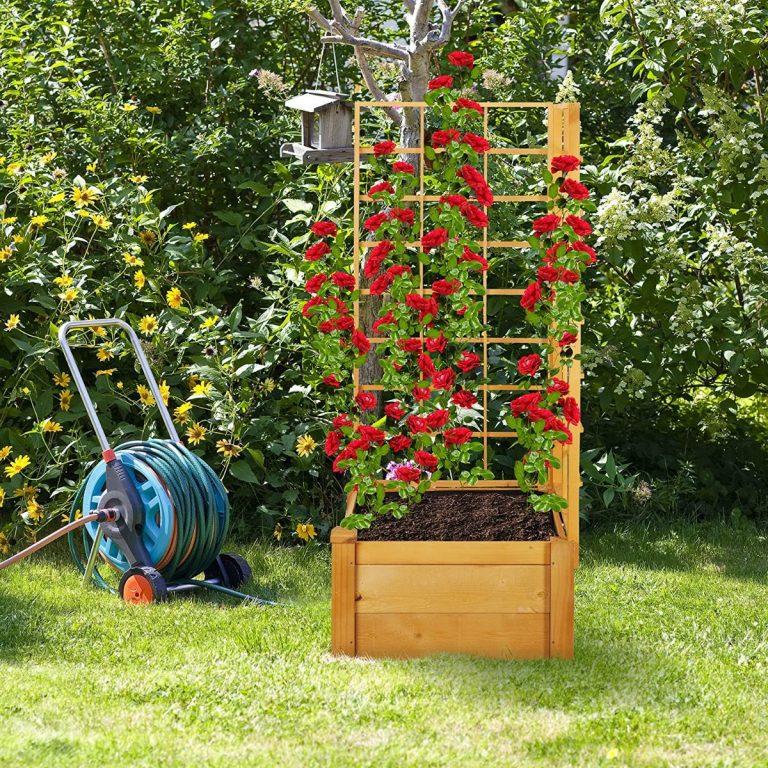jardinera con celosía